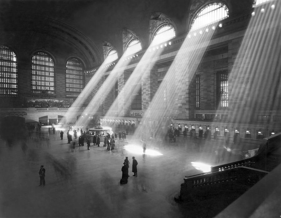 Grand Central Station Sunbeams Photograph