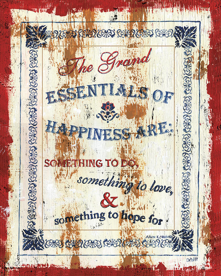 Grand Essentials Of Happiness Painting  - Grand Essentials Of Happiness Fine Art Print