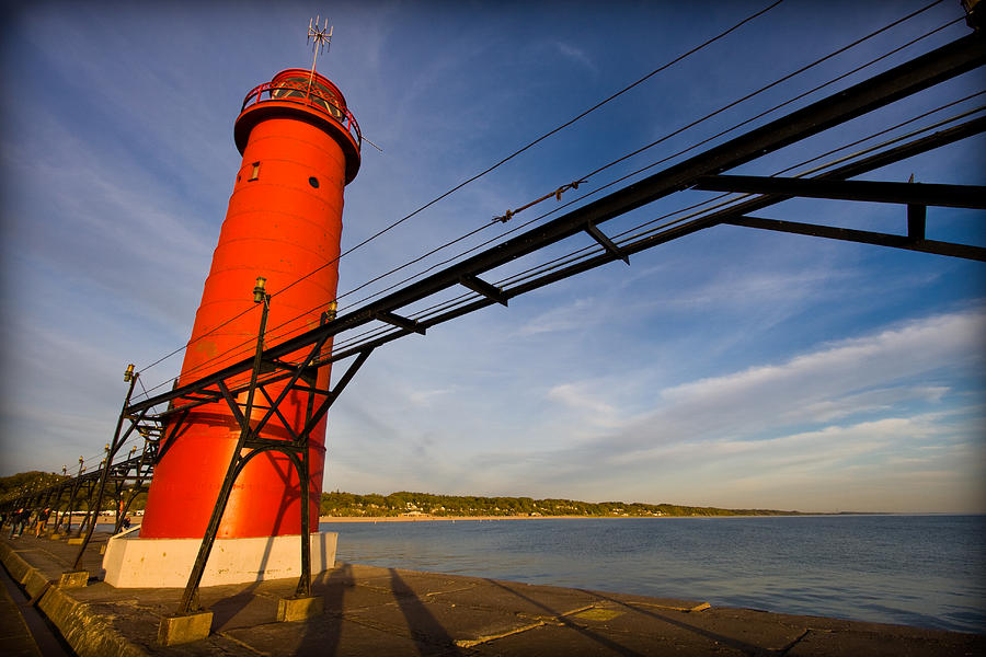 Grand Haven Lighthouse Photograph  - Grand Haven Lighthouse Fine Art Print