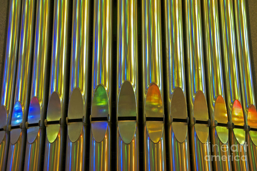 Grand Pipe Organ Reflections Photograph  - Grand Pipe Organ Reflections Fine Art Print