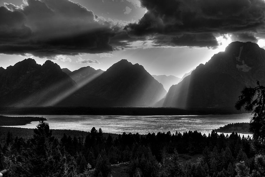 Grand Teton Light Beams Photograph  - Grand Teton Light Beams Fine Art Print