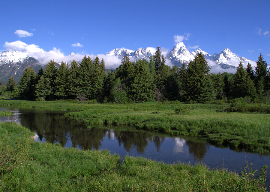 Grand Teton Reflection Photograph  - Grand Teton Reflection Fine Art Print