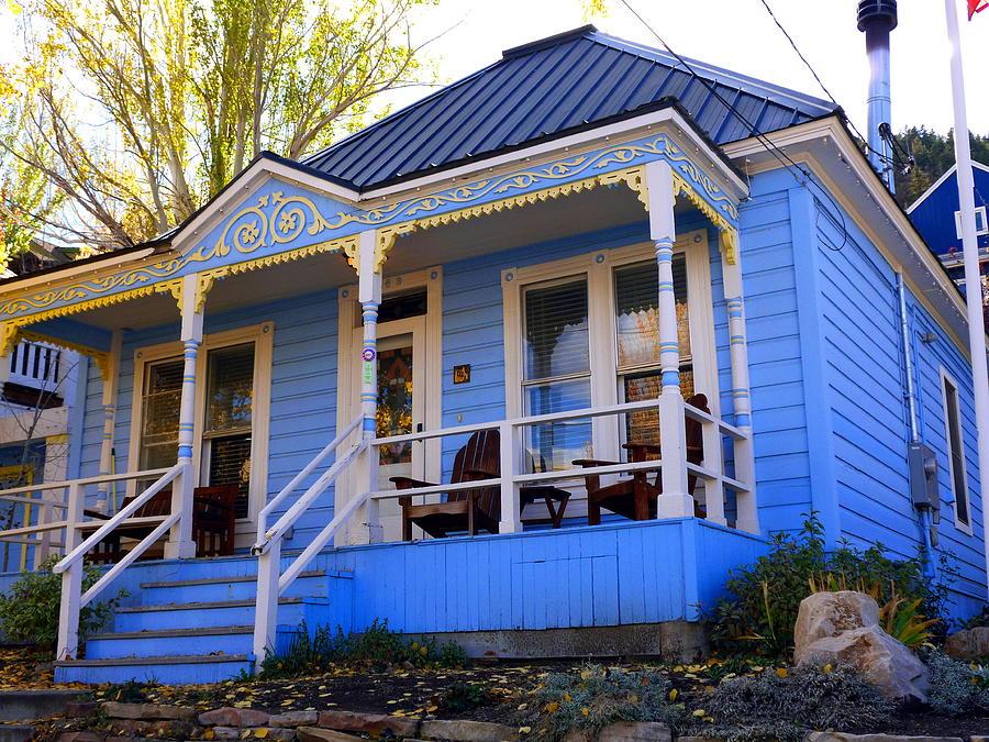 Blue Photograph - Grandmas House by Jackie Carpenter
