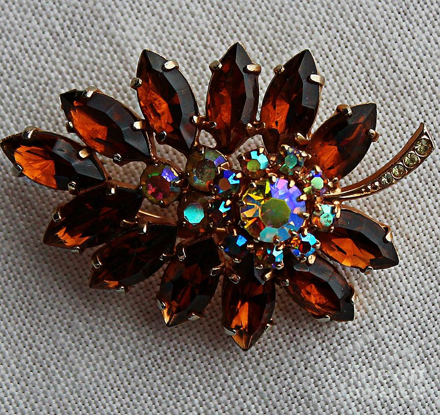 Grandmas Topaz Brooch Jewelry - Grandmas Topaz Brooch - Treasured Heirloom by Barbara Griffin