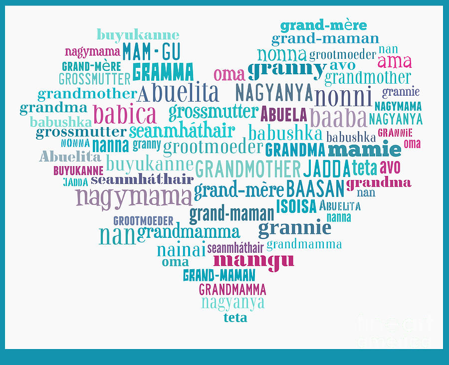 how to say grandmother in different languages