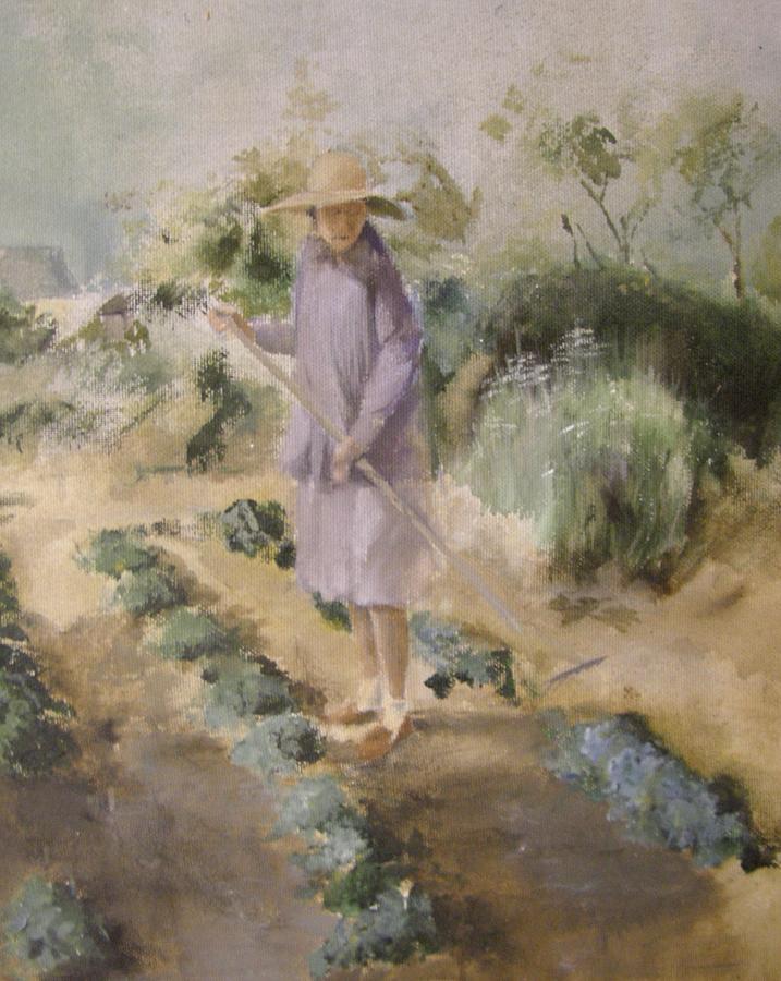Grandmother Margarets Garden Painting