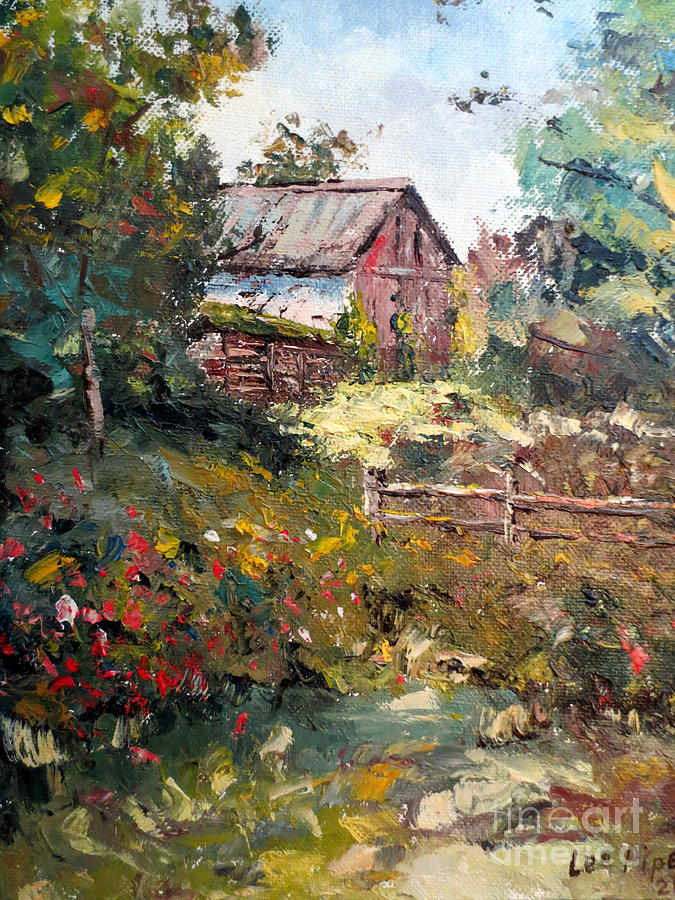 Grandpas Barn Painting  - Grandpas Barn Fine Art Print