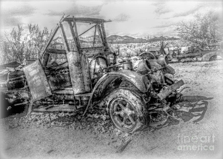 Grandpas Intriguing Junk - Bw Hdr Photograph