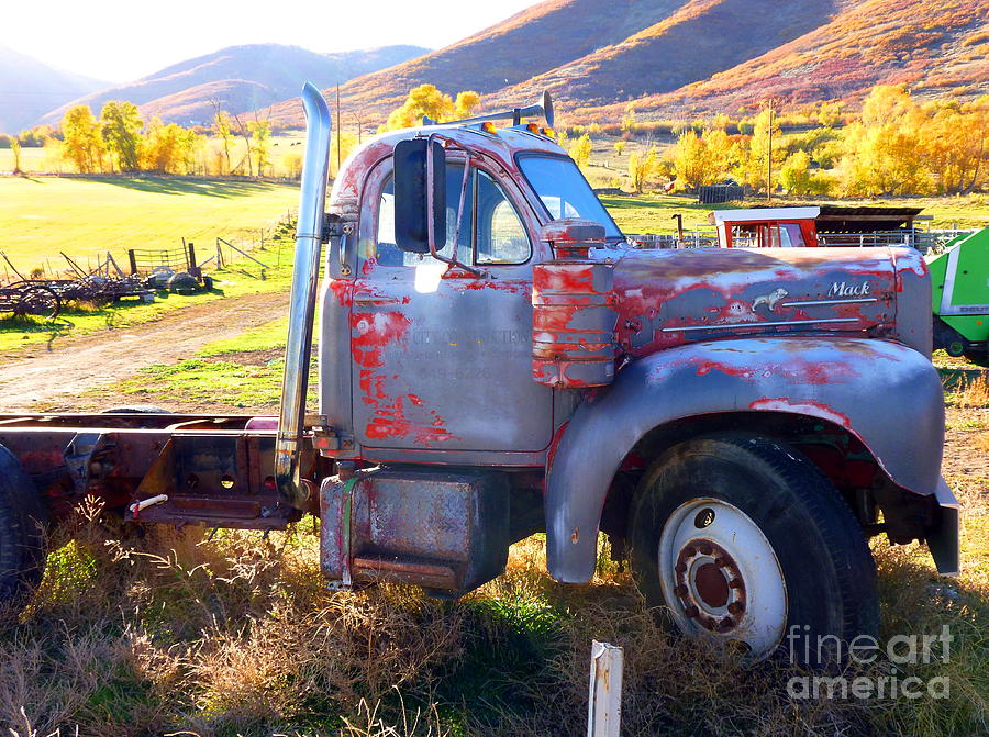 Grandpa Photograph - Grandpas Mack Truck by Jackie Carpenter