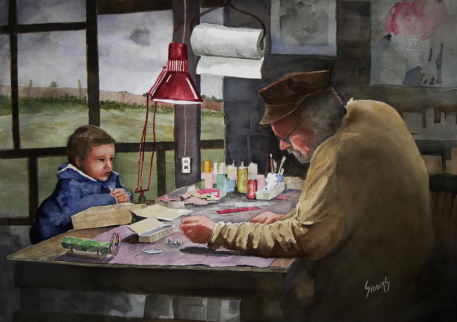 Grandpas Workbench Painting