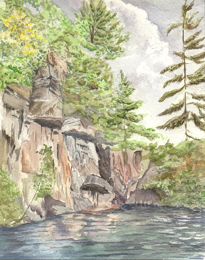Granite Cliffs On Sherbourne Lake Painting