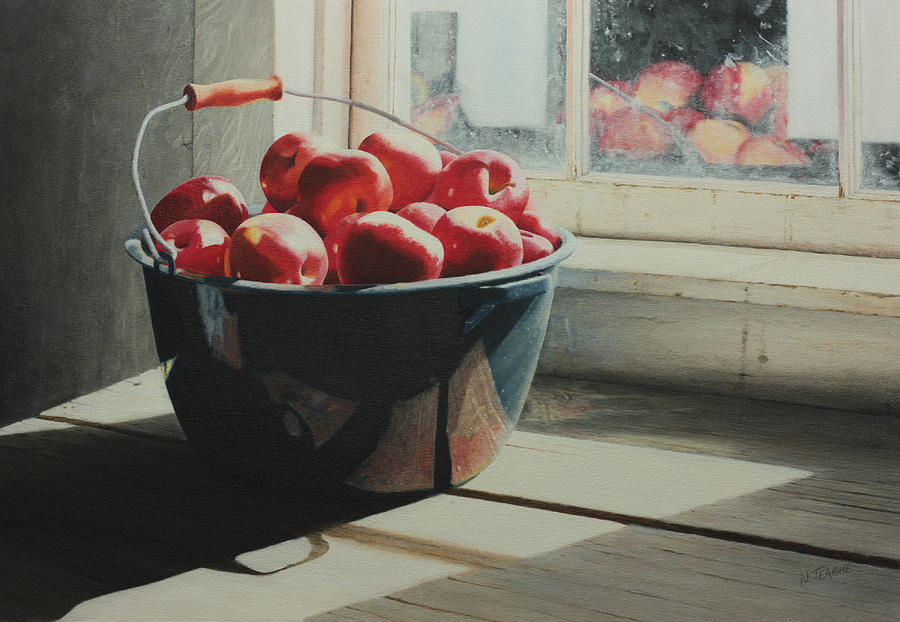 Graniteware Apples Painting