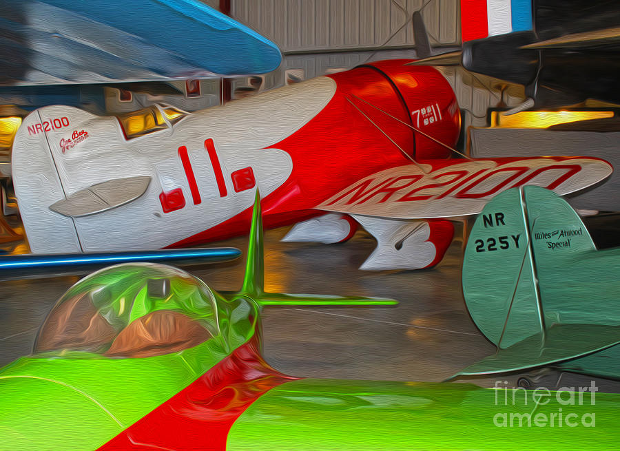 Granville Brothers Gee Bee R-1 Racer Painting - Granville Brothers Gee Bee R-1 Racer by Gregory Dyer