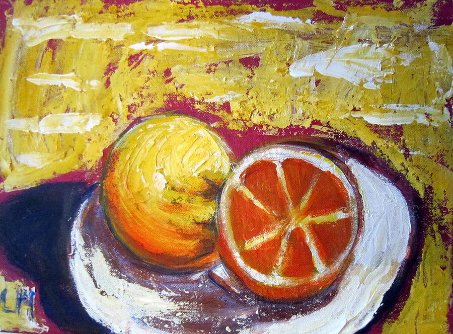 Grapefruit Painting