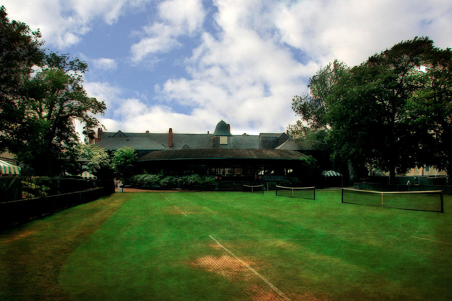 Tennis Court Photograph - Grass Courts At The Hall Of Fame by Michelle Calkins