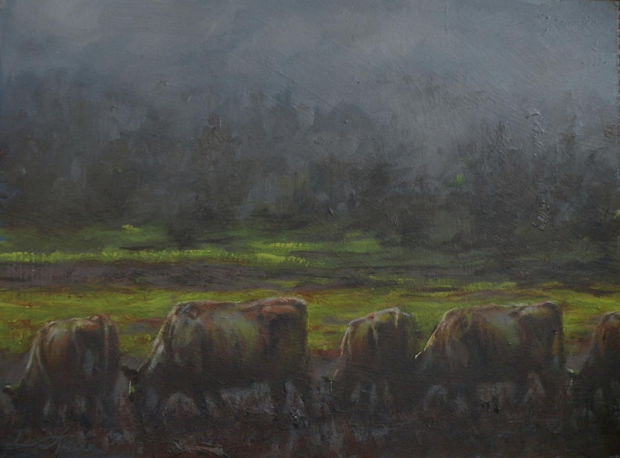 Grass Its Whats For Dinner Painting  - Grass Its Whats For Dinner Fine Art Print