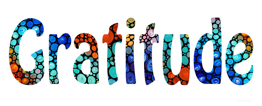 Gratitude Painting - Gratitude 1 - Inspirational Art by Sharon Cummings