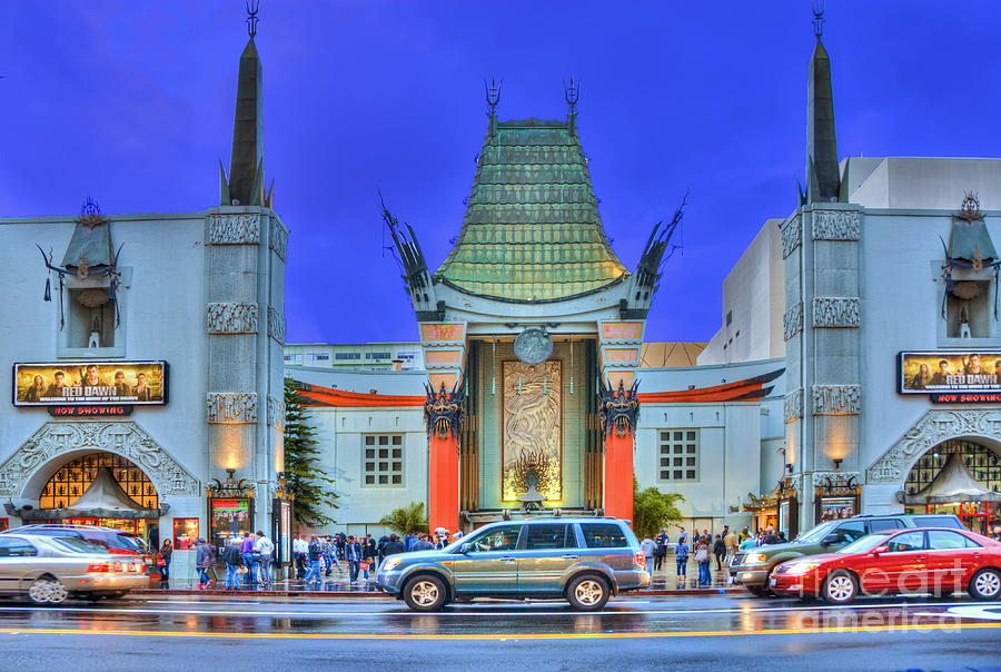 Graumans Chinese Theatre Hollywood Ca Photograph  - Graumans Chinese Theatre Hollywood Ca Fine Art Print