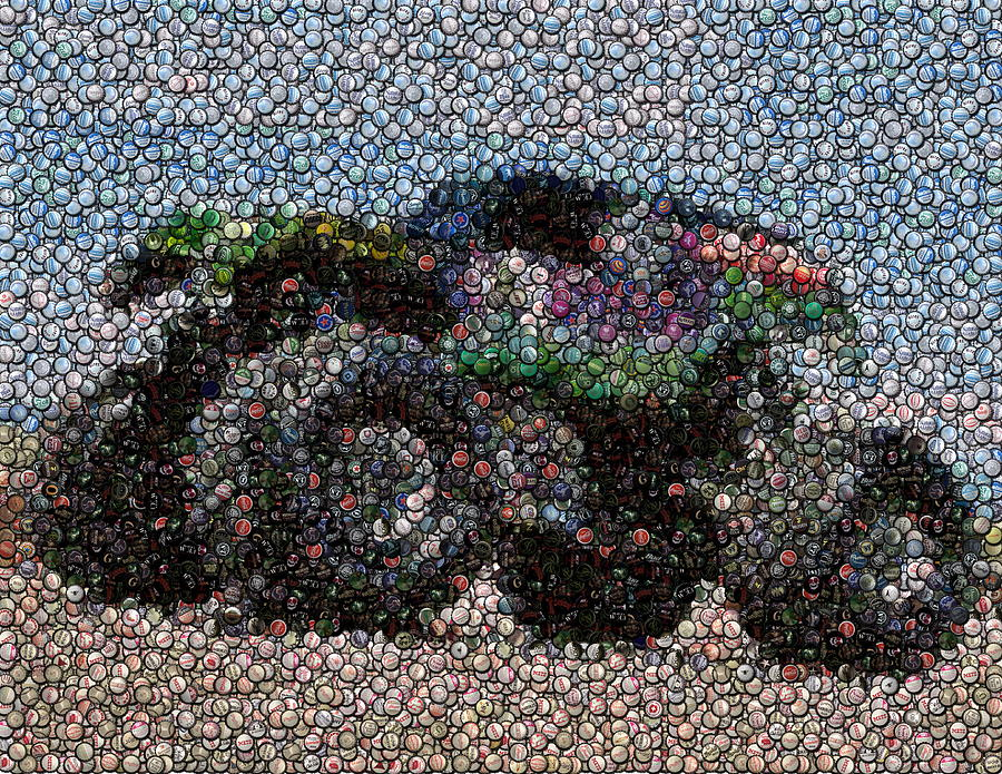 Grave Digger Bottle Cap Mosaic Photograph