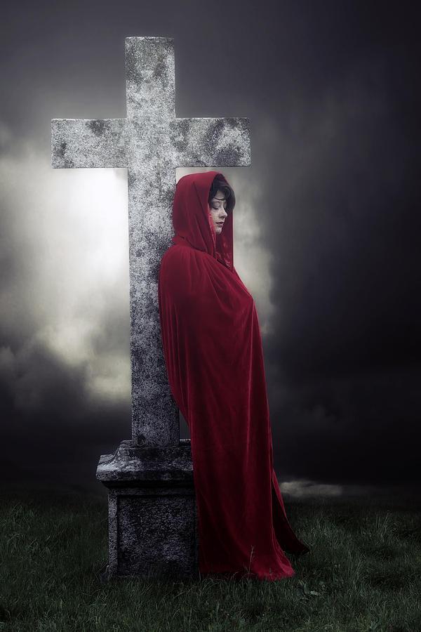 Woman Photograph - Graveyard by Joana Kruse