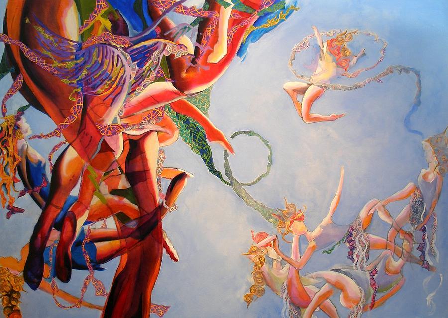 Gravity Irish Dance Dancing Space Umbilical Cords Painting - Gravity by Georg Douglas