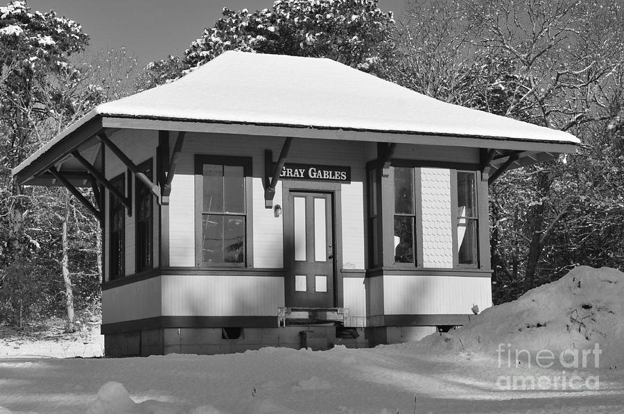 Gray Gables Train Station Photograph  - Gray Gables Train Station Fine Art Print