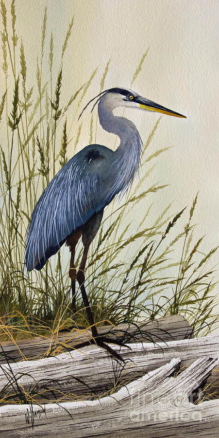 Great Blue Heron Splendor Painting