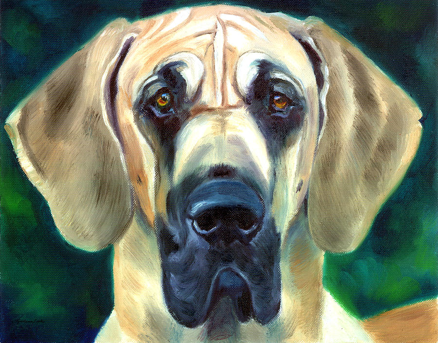 Great Dane Painting - Great Dane Nobility by Lyn Cook
