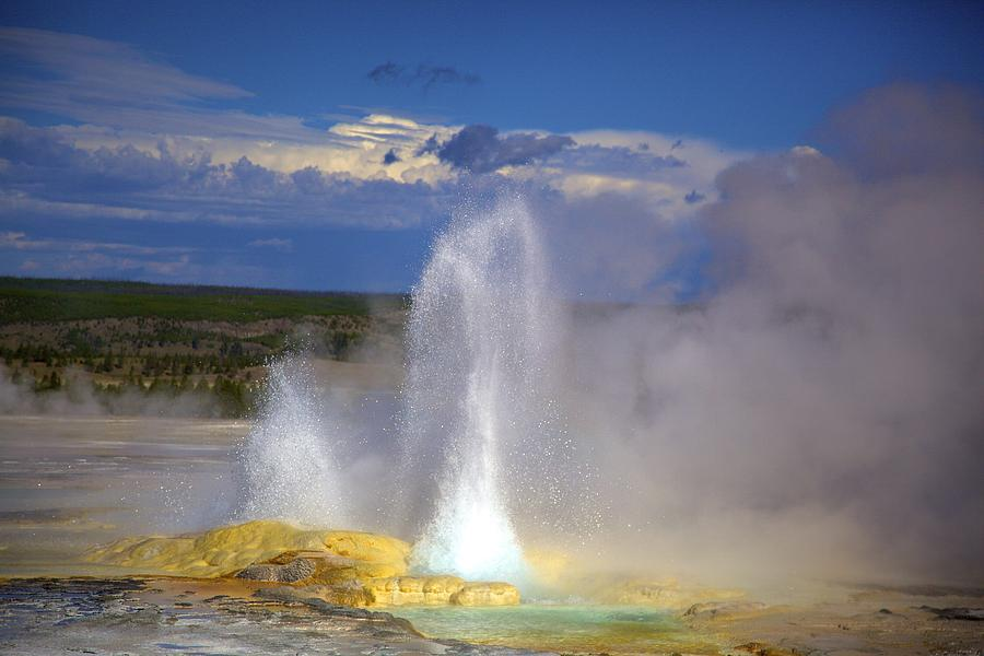 Great Fountain Geyser Photograph  - Great Fountain Geyser Fine Art Print