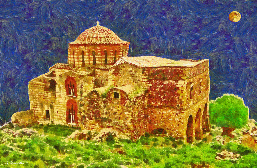Greek Church 6 Painting  - Greek Church 6 Fine Art Print