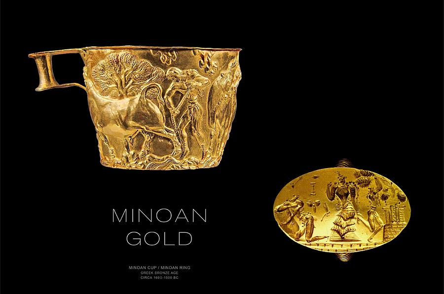Greek Gold - Minoan Gold Digital Art