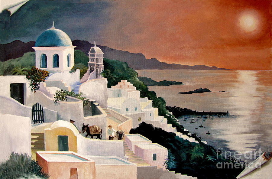 Greek Isles Painting - Greek Isles by Marilyn Smith