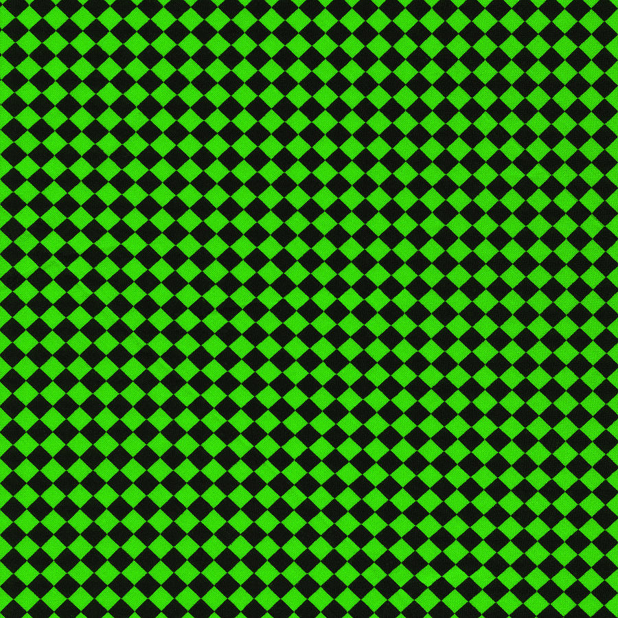 Green And Black Checkered Pattern Cloth Background