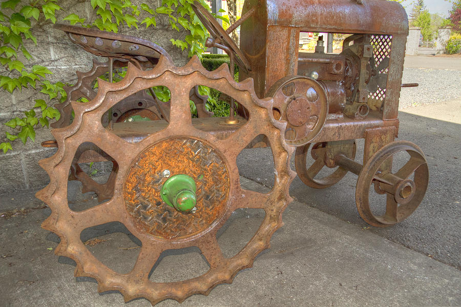 Tractor Photograph - Green Axle by Jean Noren