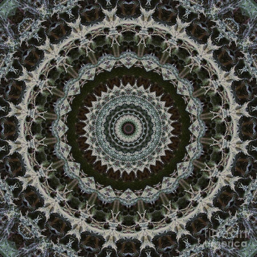 Green Brown Mandala Digital Art