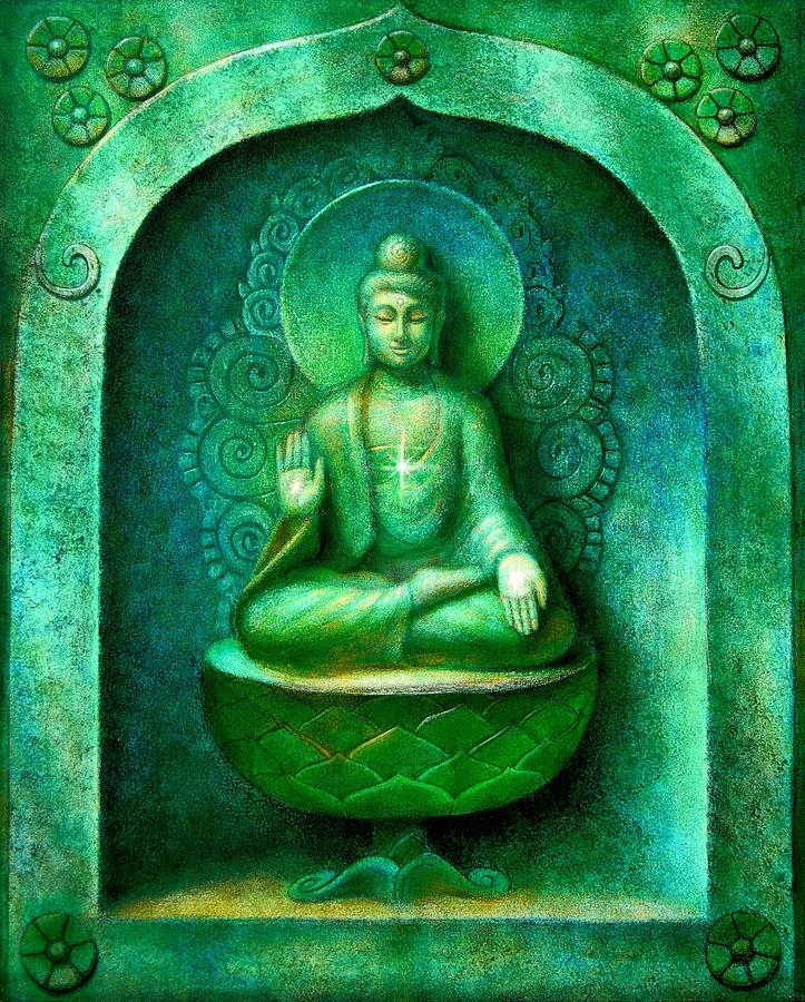 Green Buddha Painting