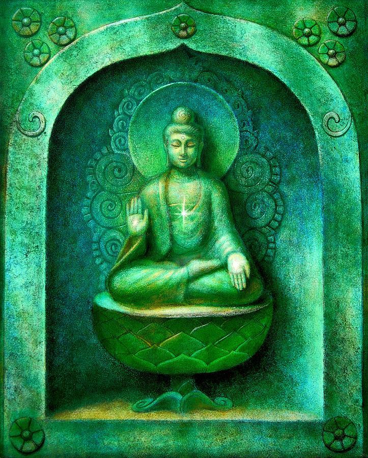 Green Buddha Painting