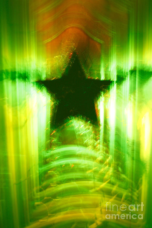 Green Christmas Star Photograph