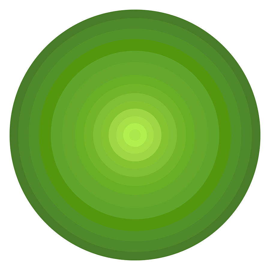 Green Circles Painting  - Green Circles Fine Art Print