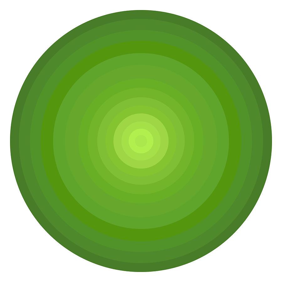 Green Circles Painting - Green Circles by Frank Tschakert