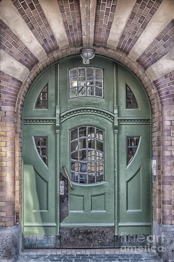 green door art deco style photograph by antony mcaulay