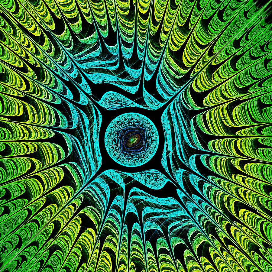 Green Dragon Eye Digital Art