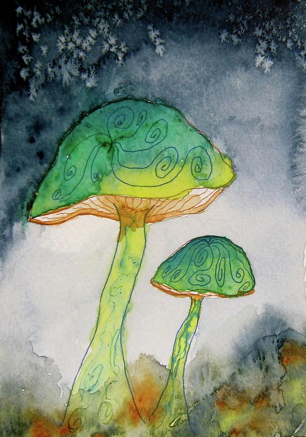 Green Dreams Painting