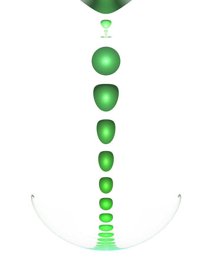 Green Drop Digital Art