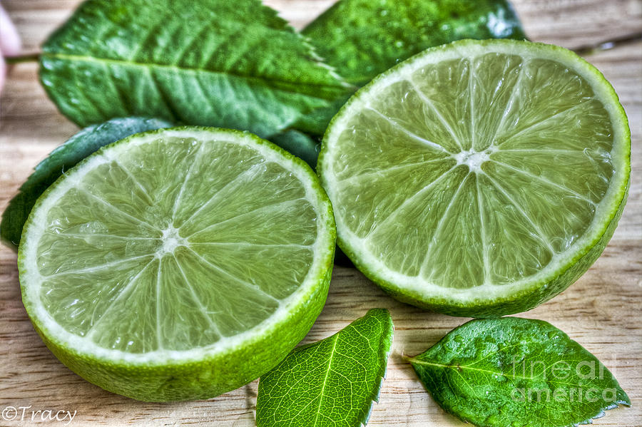 Mojito Photograph - Green Limes And Mint  Mojito by Tracy  Hall