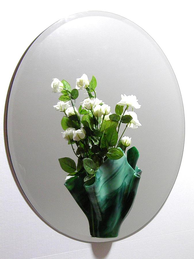 Green Sconce Glass Art