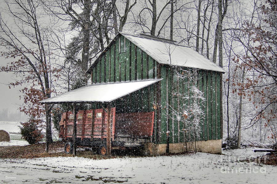Green Tobacco Barn Photograph