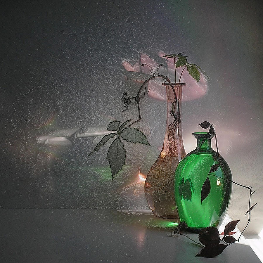 3d Modern Green Touch Still Life