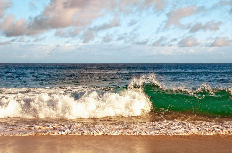 Green Wave Photograph  - Green Wave Fine Art Print