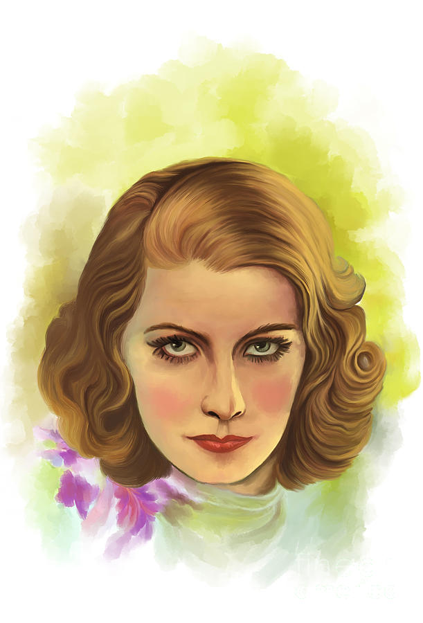 Greta Garbo Painting